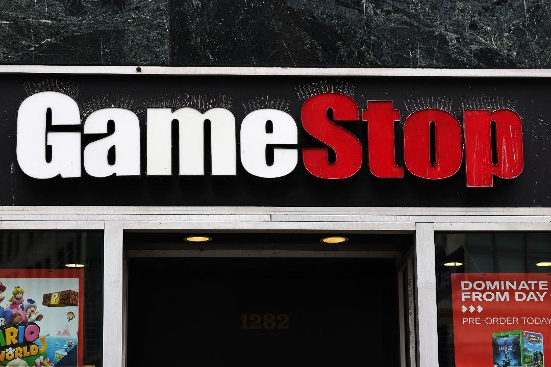 2021年1月27日,美國紐約市,GameStop公司門店。 攝:Michael Santiago/Getty Images