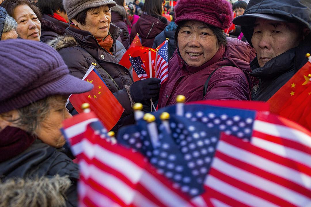 2019年2月17日紐約,中國人在唐人街慶祝農曆新年。 攝:Andrew Lichtenstein/Corbis via Getty Images