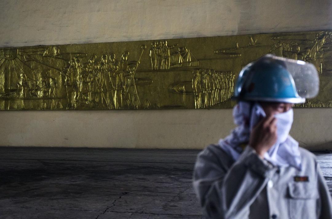 2016年,武漢,武漢鋼鐵集團的工廠。