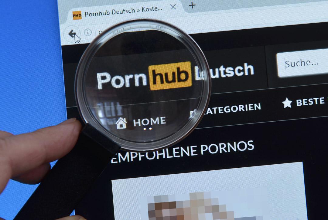 色情網站Pornhub。 攝:Schöning/ullstein bild via Getty Images