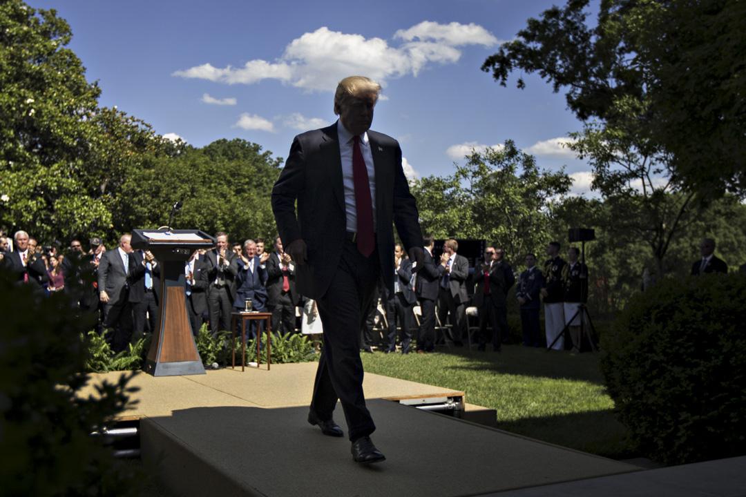2017年6月1日,美國總統特朗普在白宮玫瑰園宣布美國將退出巴黎氣候公約,並將尋求重新談判。