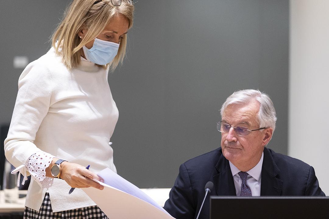 2020年12月22日比利時布魯塞爾,歐盟委員會中負責英國脱歐事務的首席談判代表米歇爾·巴尼耶。