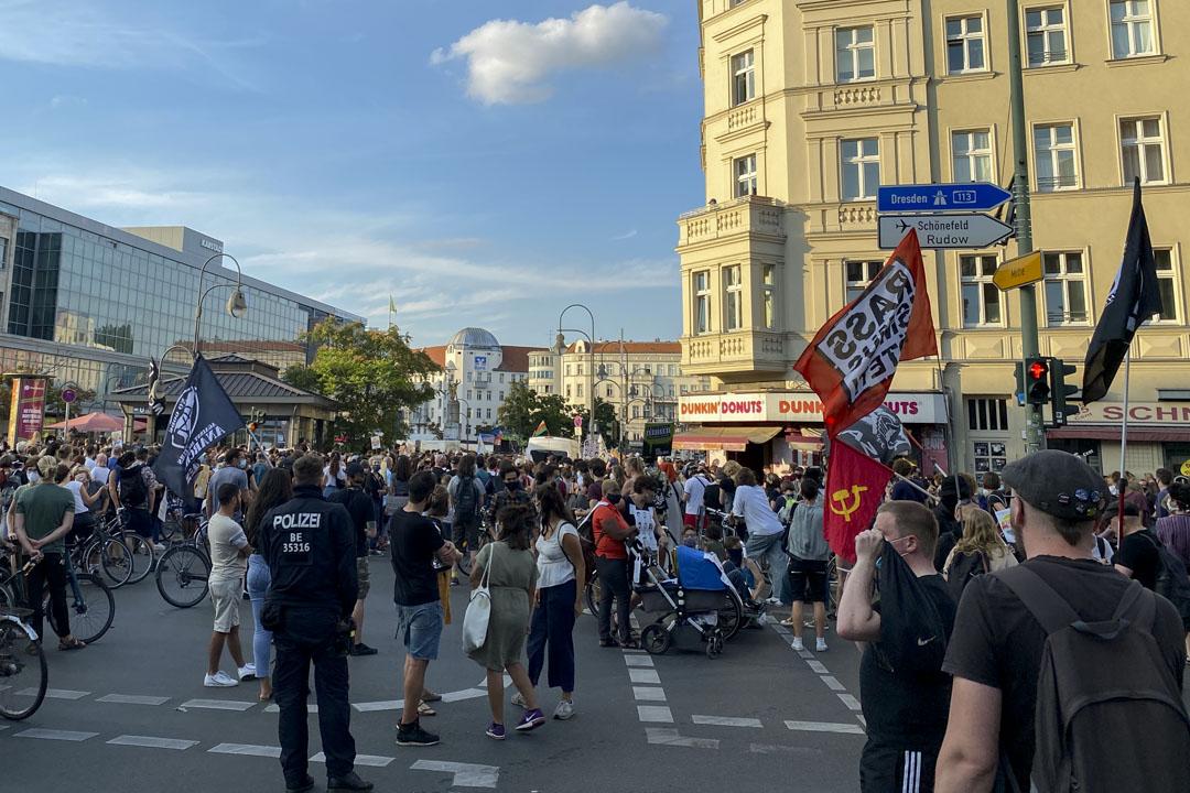 2020年,柏林哈瑙事件的抗議行動。