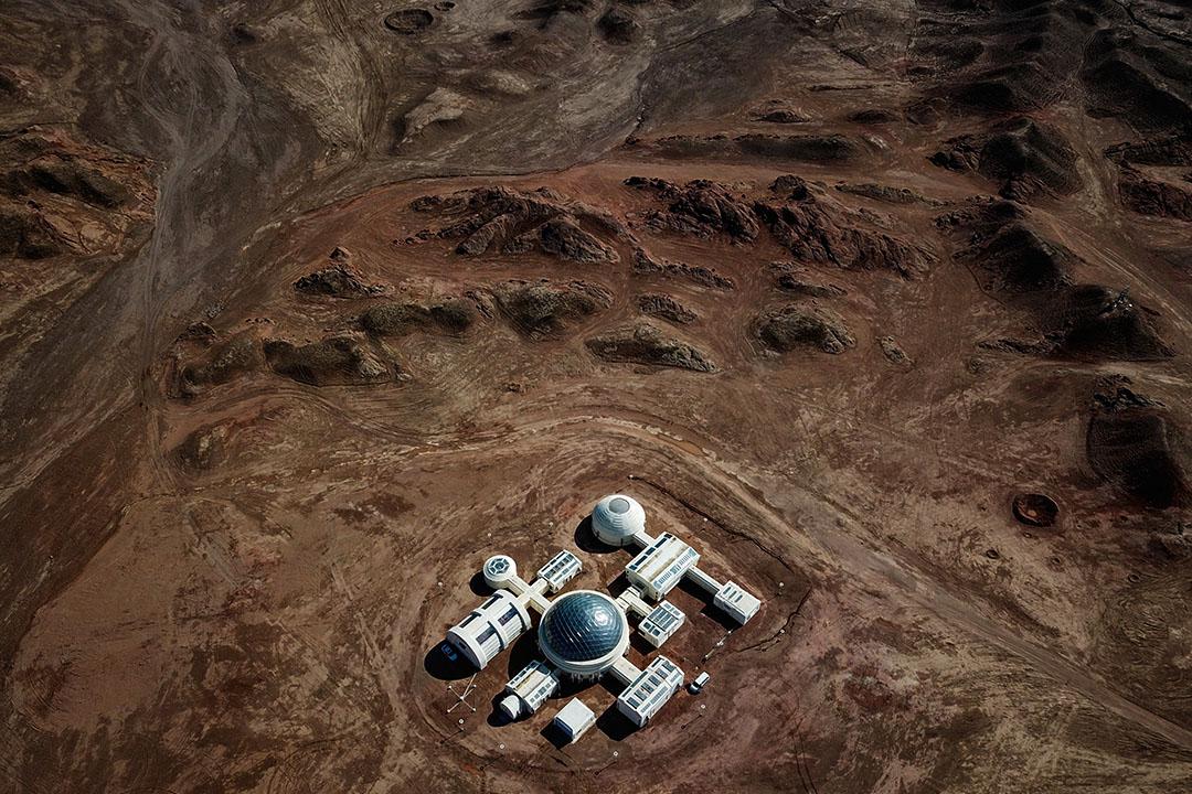 2019年5月3日,中國甘肅金昌模擬火星的基地。