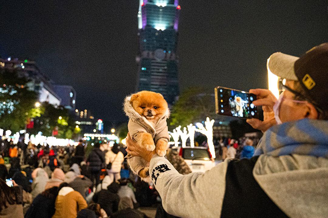 2020年12月31日,台北跨年倒数活动。
