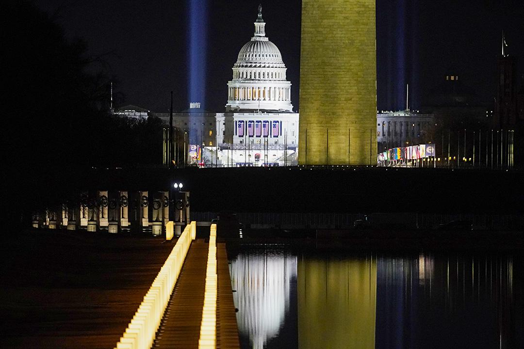 2021年1月20日華盛頓,美國國會大廈。