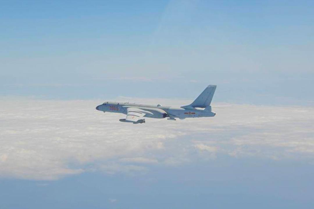 2021年1月23日,國防部公布進入台灣西南空域「轟6K」轟炸機的同型機照片。 圖 : 國防部提供