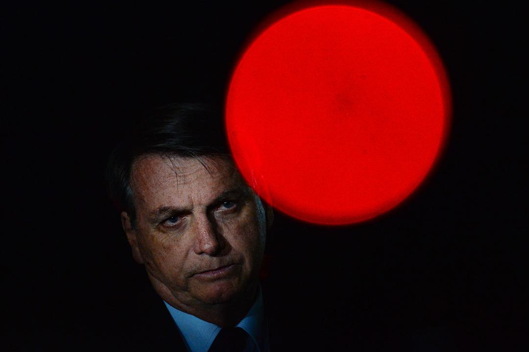 2020年6月5日巴西巴西利亞,巴西總統博索納羅在一次會議內。 攝:Andressa Anholete/Getty Images