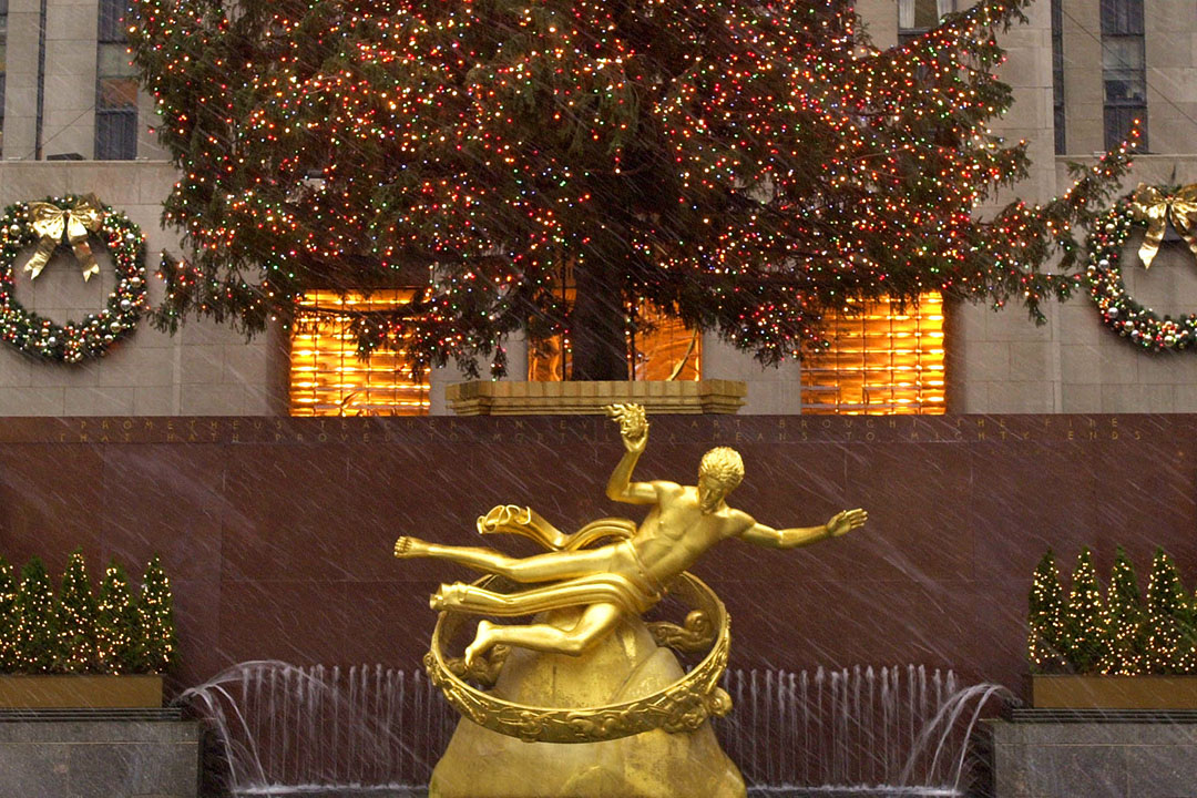 普羅米修斯雕像。