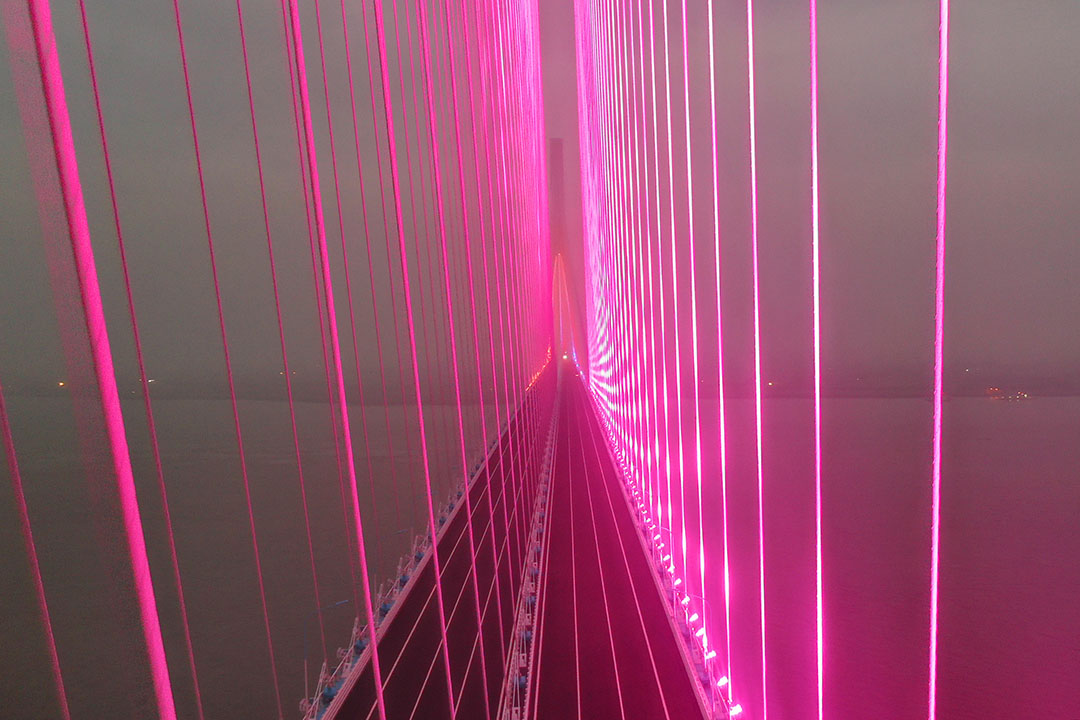 2020年6月13日,滬蘇通長江公鐵大橋。