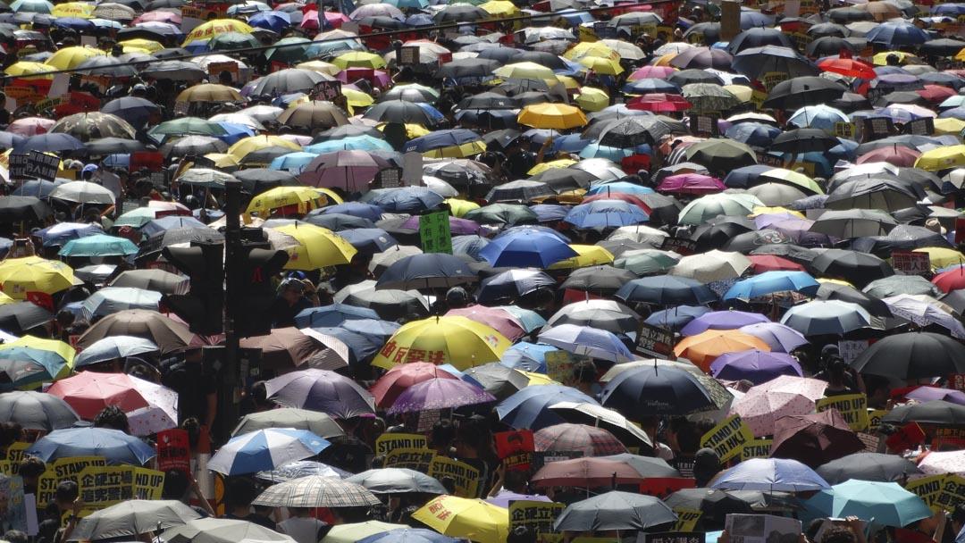 《同一雨傘下》Under the Same Umbrella,香港人走到街上爭取民主和言論自由;同時來自印尼的外勞也把他們對自己國家總統選舉的訴求帶到香港,在外地聲援印尼同胞,同時賺錢養活自己的家人。