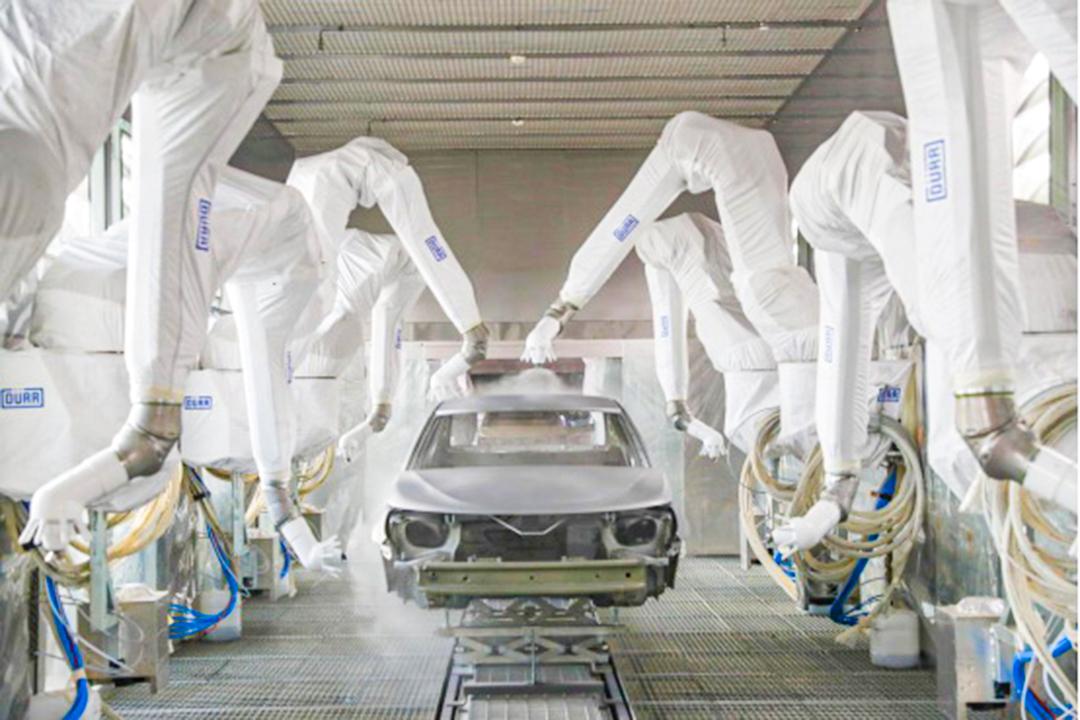 恒大汽車生產基地塗裝車間。