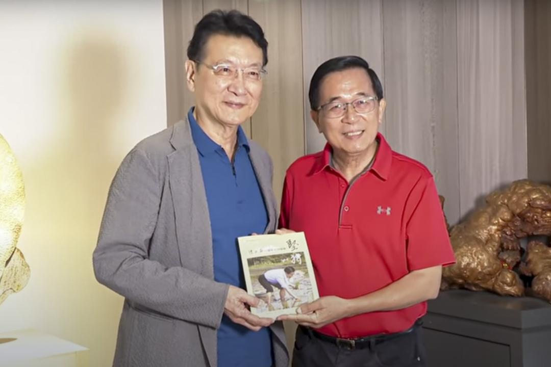趙少康日前到台南拜訪前總統陳水扁。