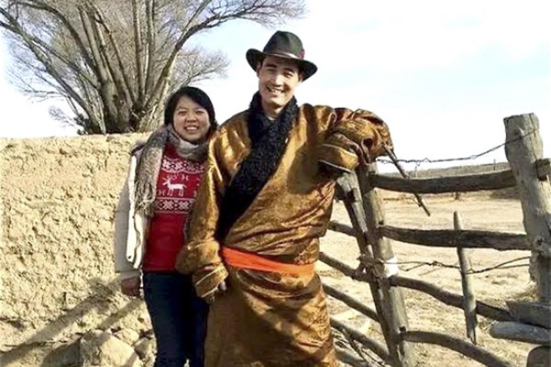 馬金瑜和她的丈夫。 網上圖片