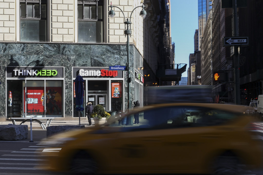 2021年1月30日,美國紐約曼哈頓GameStop商店。
