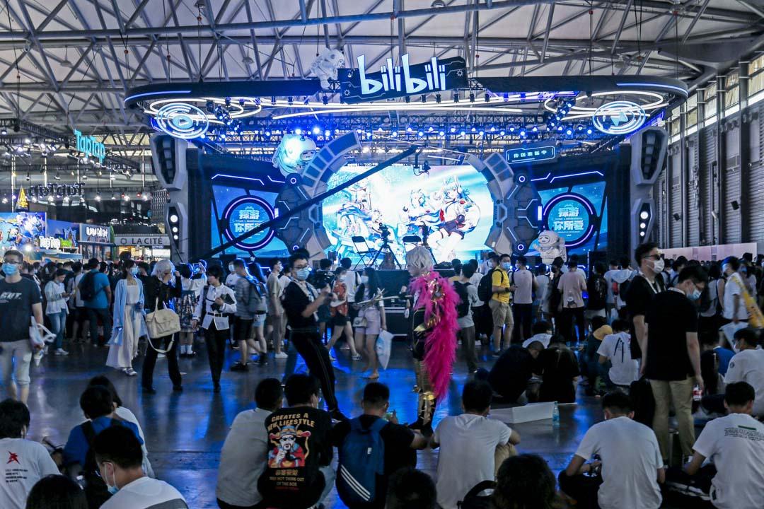 Bilibili參加2020年8月1日在上海舉行的ChinaJoy國際數字娛樂展覽會。 攝:Costfoto/Barcroft Media via Getty Images