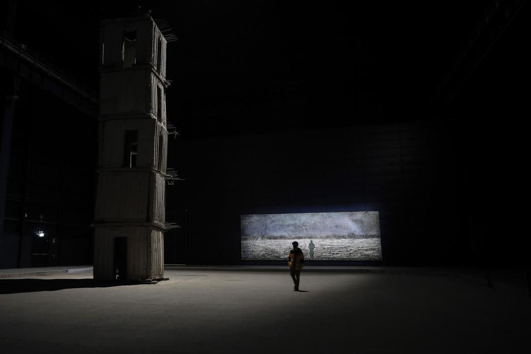 2021年2月3日,意大利米蘭一個疫情受控後開放的一個展覽。