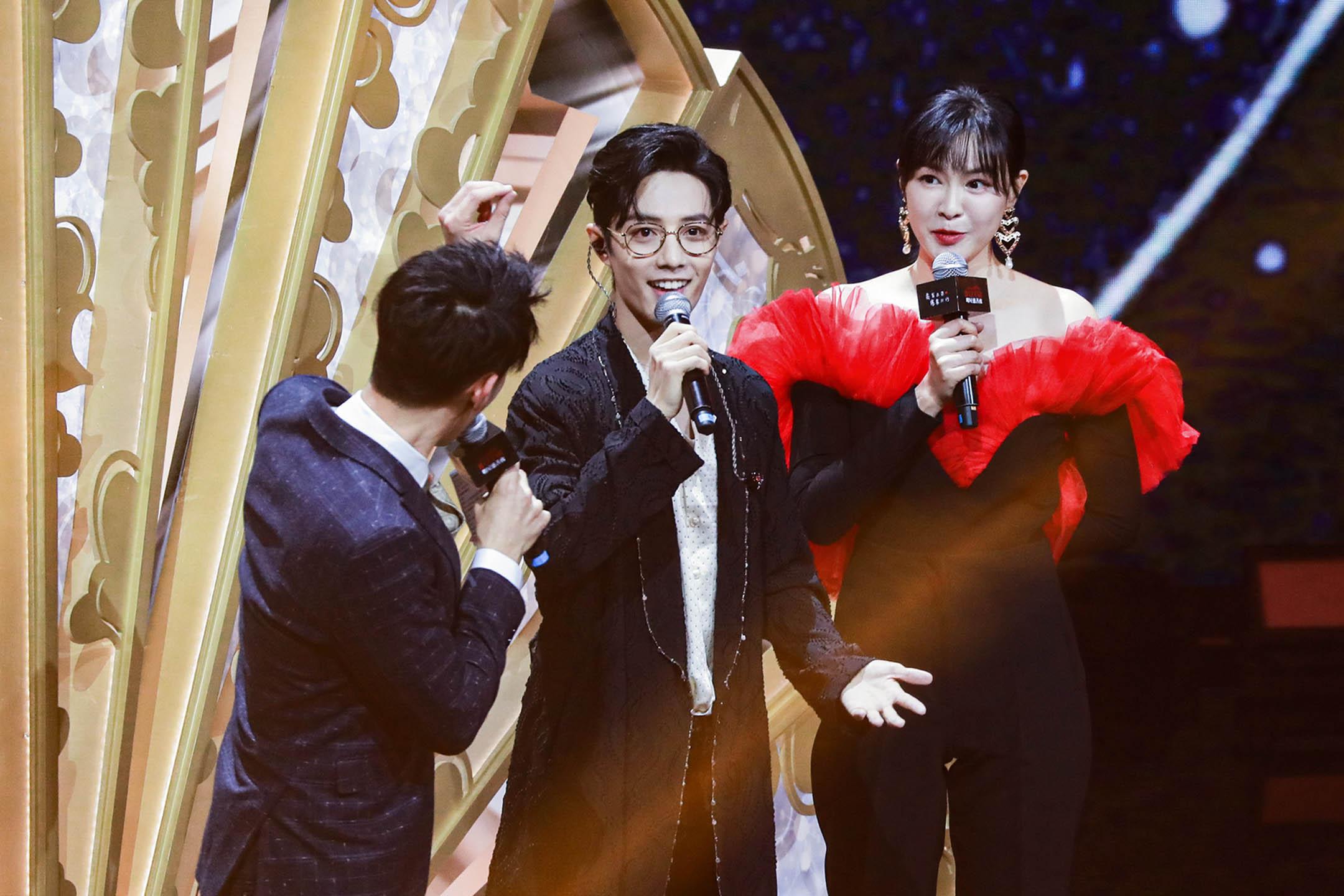 2019年11月16日中國北京,歌手肖戰舞台上表演。 圖:VCG/VCG via Getty Images