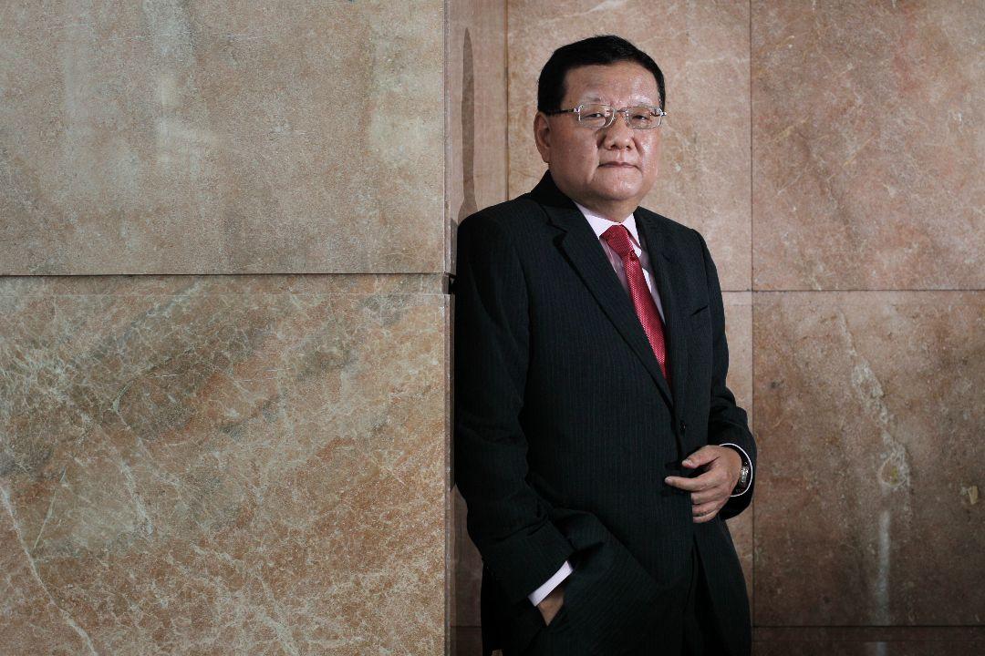 2012年11月22日,鳳凰衛視董事長兼首席執行官劉長樂在香港灣仔會展中心。 攝:May Tse/Getty Images