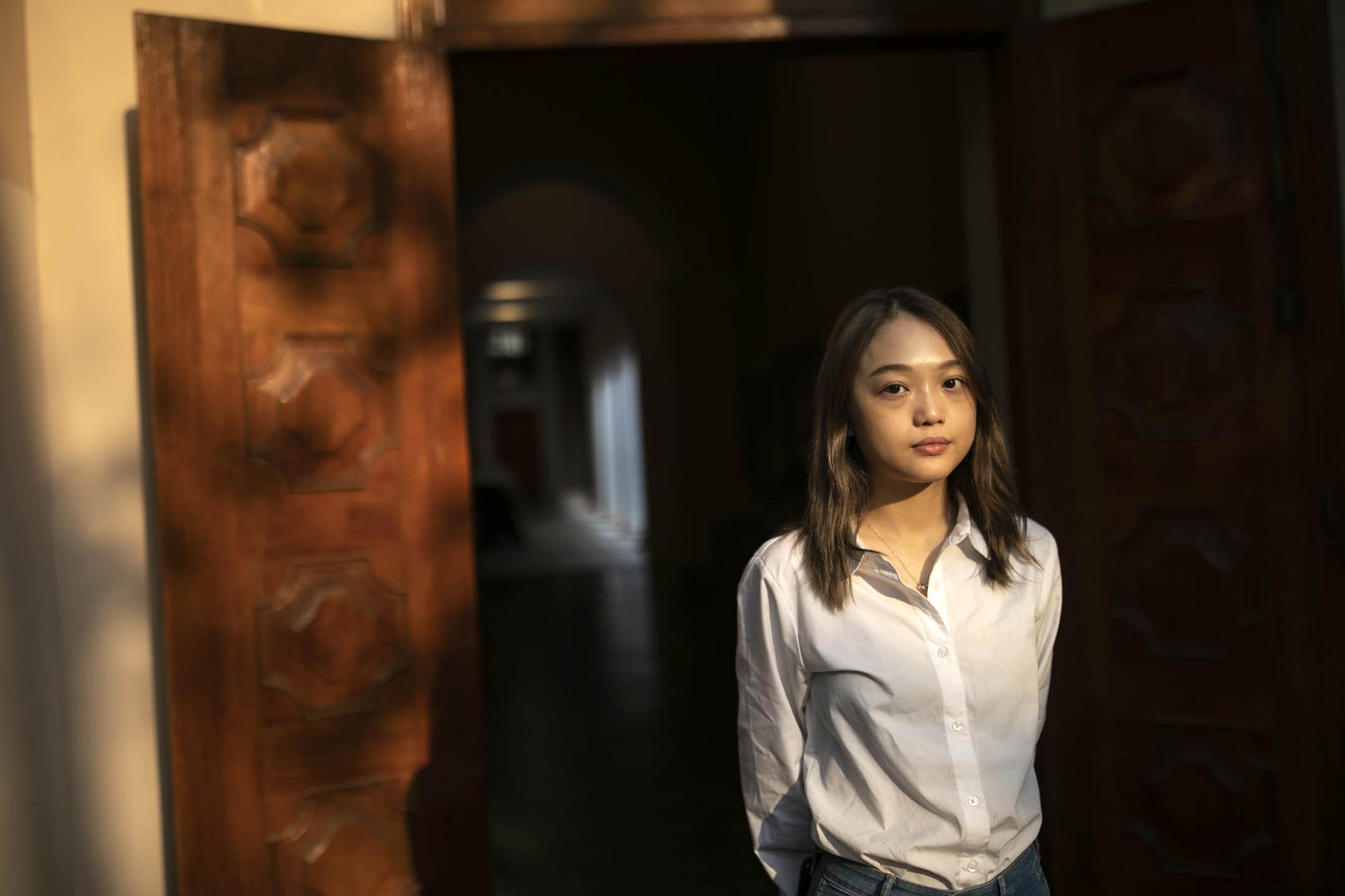 港大學生會前會長葉芷琳。