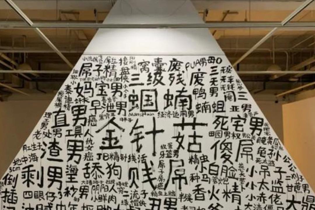 2020年12月,中國大陸的中央美術學院雕塑系樓裏,有人製作牆繪「一體兩面」,在一堵牆的正反面分別塗上了網絡上辱罵男性和女性的字句。創作者意指這些字句看似對立,實際上在一個整體裏。