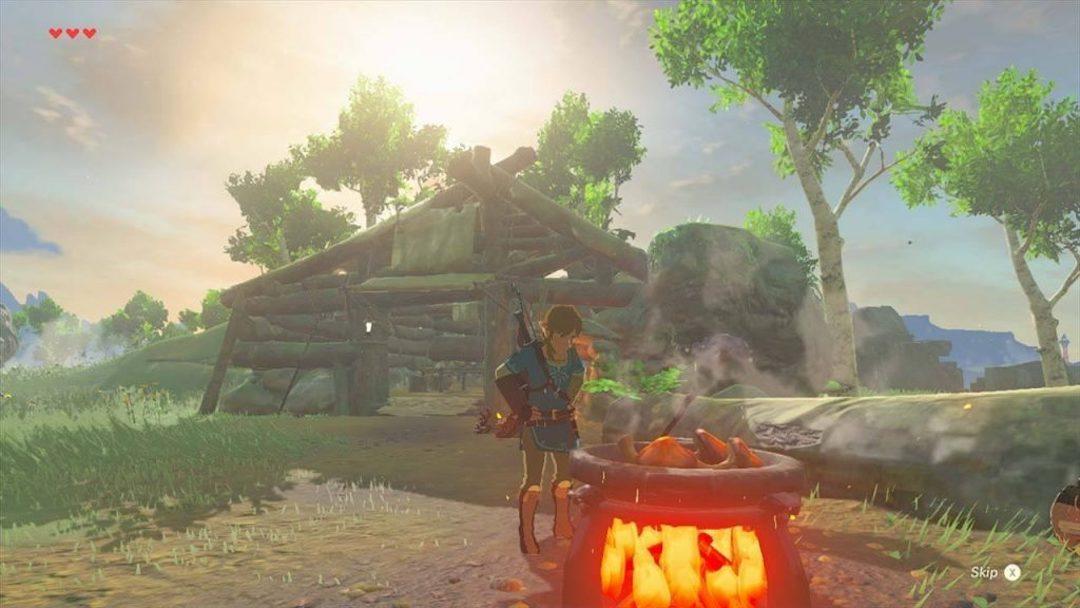 《塞爾達:荒野之息》,營火。