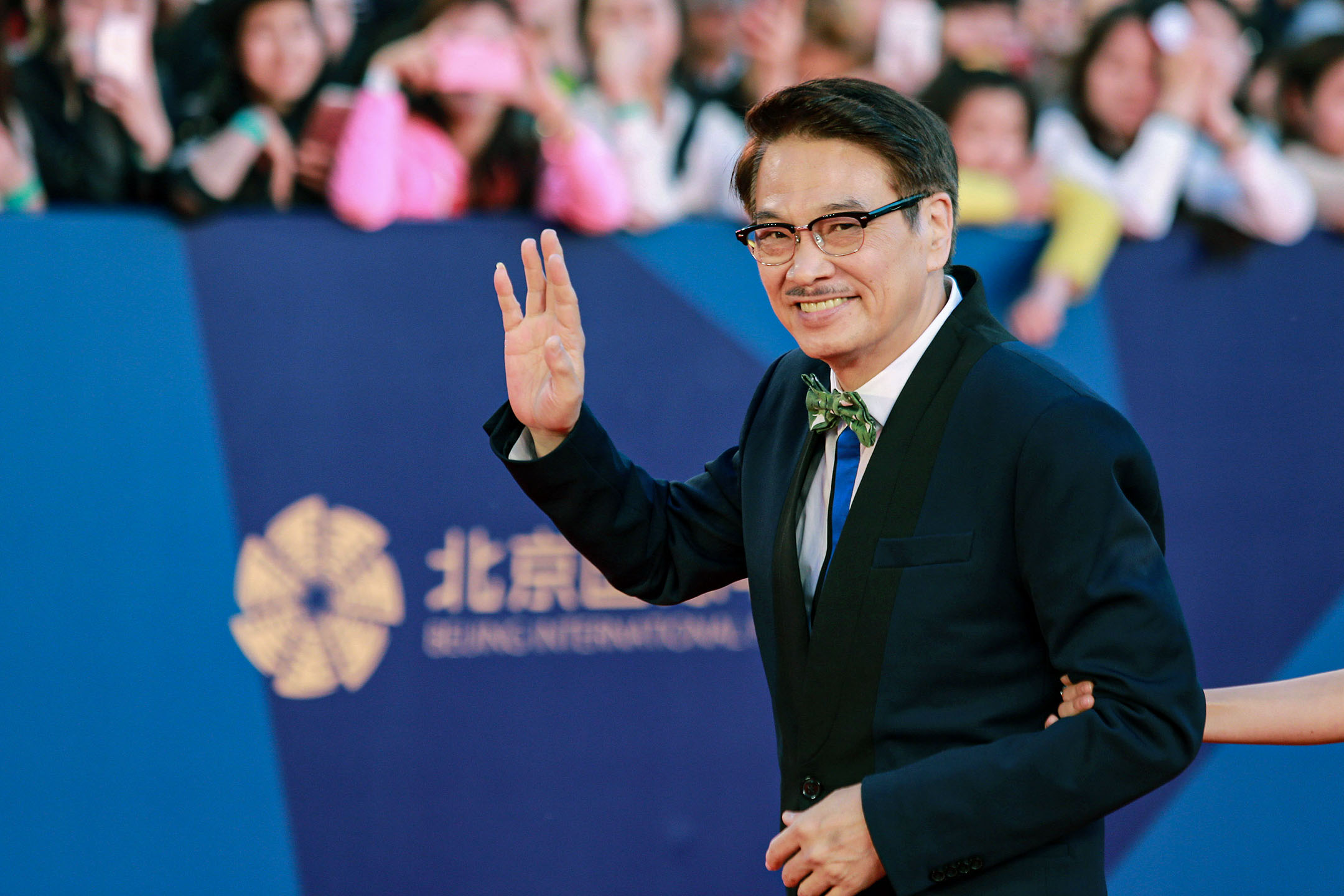 2015年4月16日北京,演員吳孟達在第五屆北京國際電影節。 攝:Visual China Group via Getty Images