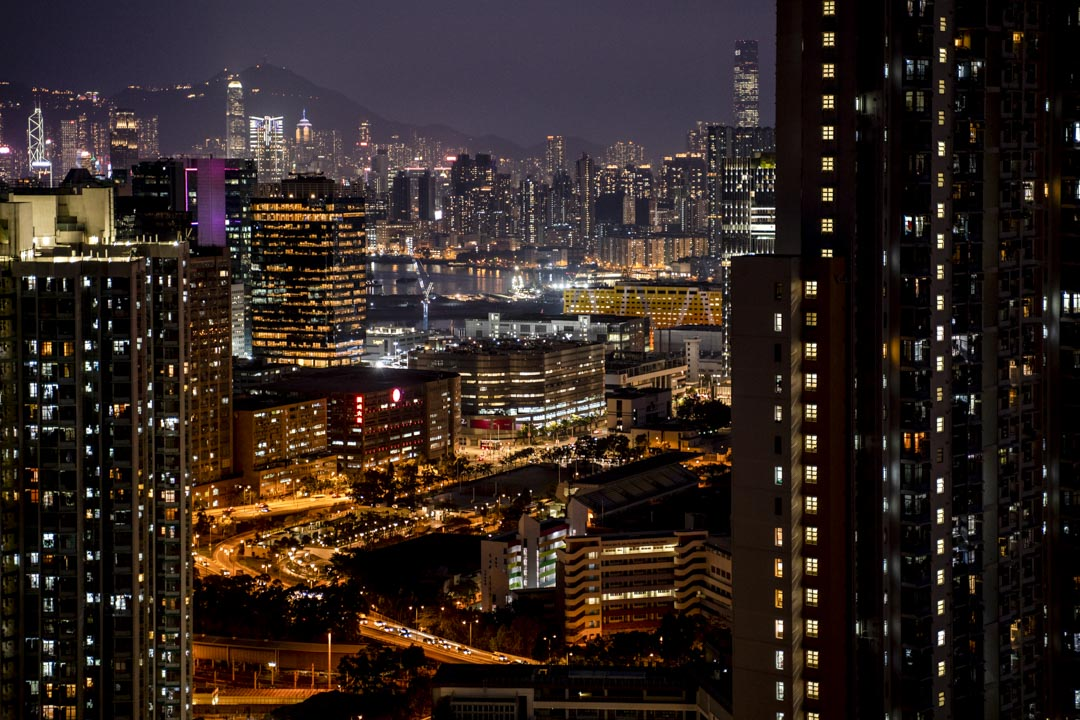 2020年,香港的住宅與商廈。