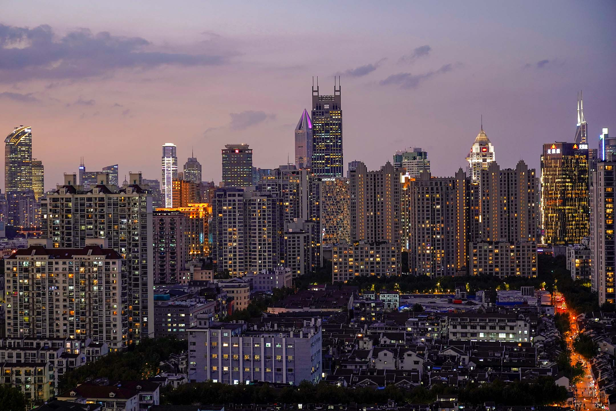 2020年10月9日,上海的高樓。 攝:Aly Song/Reuters/達志影像