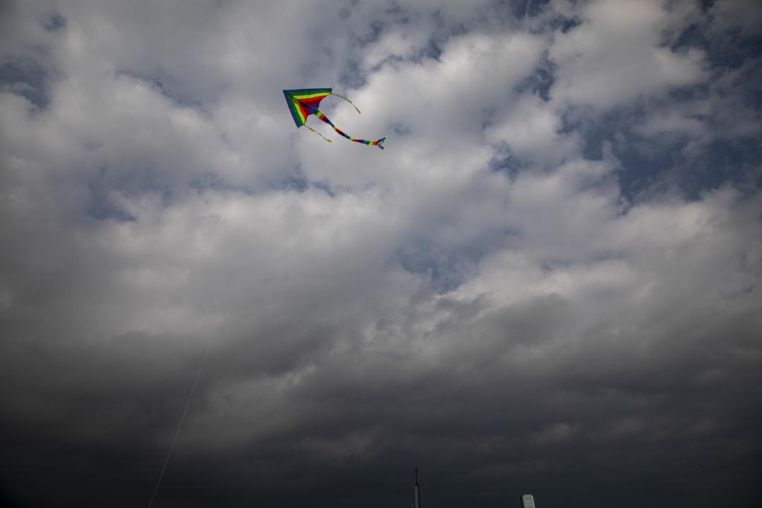2020年,一隻風箏在空中飛翔。