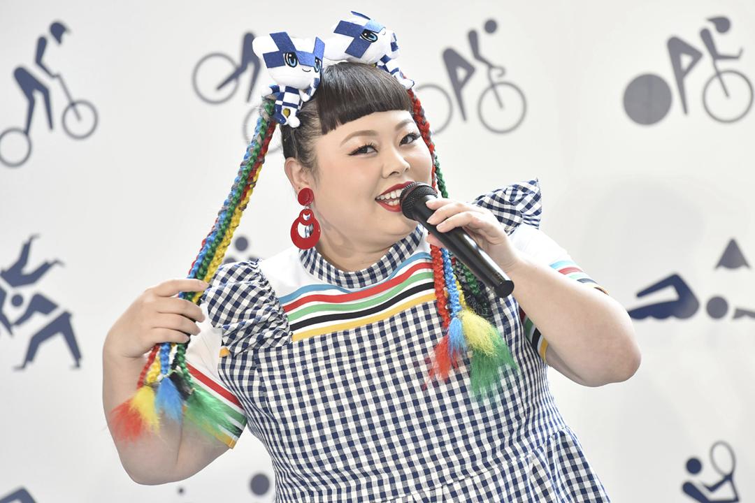 2019年5月9日在日本東京,渡邊直美出席一個與東京奧運有關的宣傳活動。 圖片來源:讀賣新聞 via AP Images