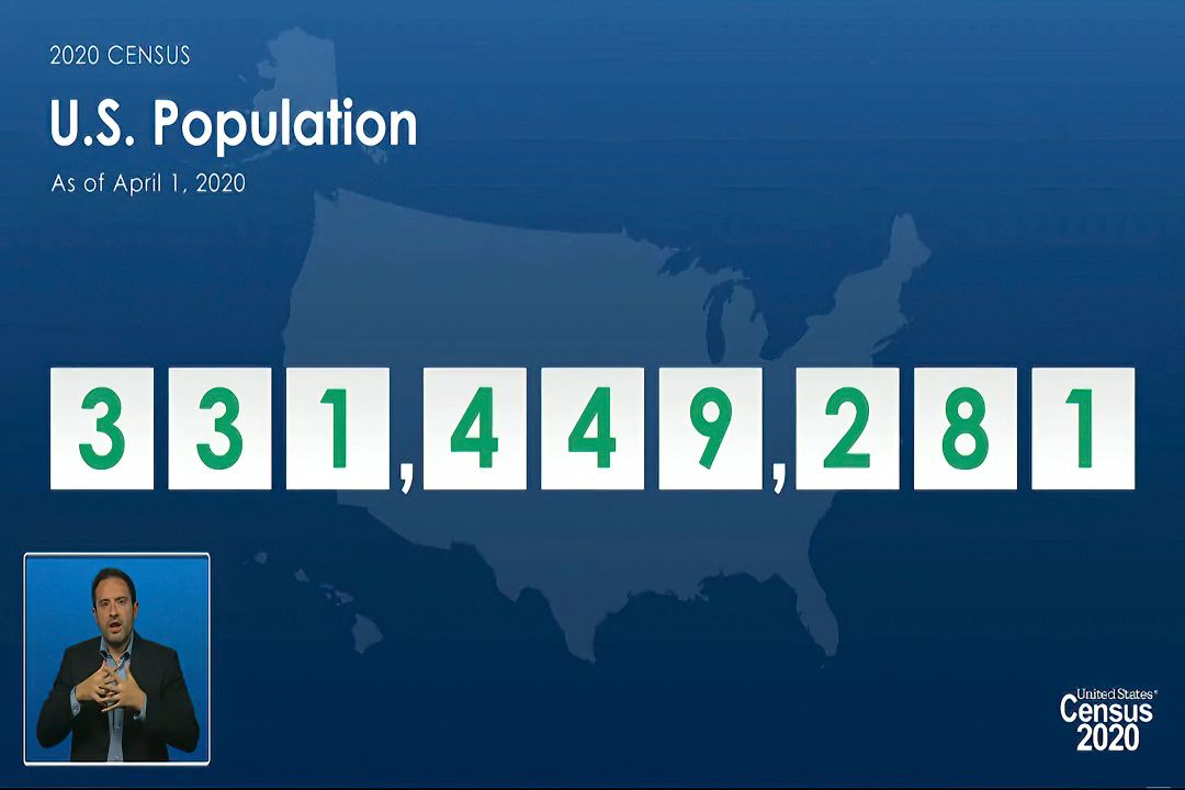 2021年4月26日,美國公布10年一度人口普查結果。 攝:AP Photo