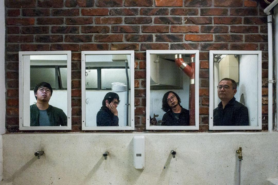 《虎豹瑪莉》團隊:PW、陳焯煇、馮凱鍵與楊德銘。 攝:林振東/端傳媒