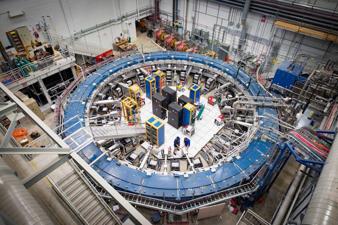 美國伊利諾伊州,費米國立加速器實驗室進行繆子g-2(Muon g-2)加速實驗。 圖片來自美國能源部