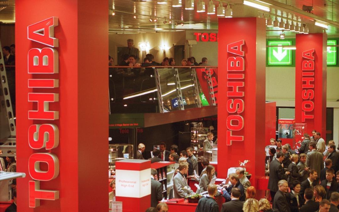 2001年,東芝在德國漢諾威電腦展的攤位。