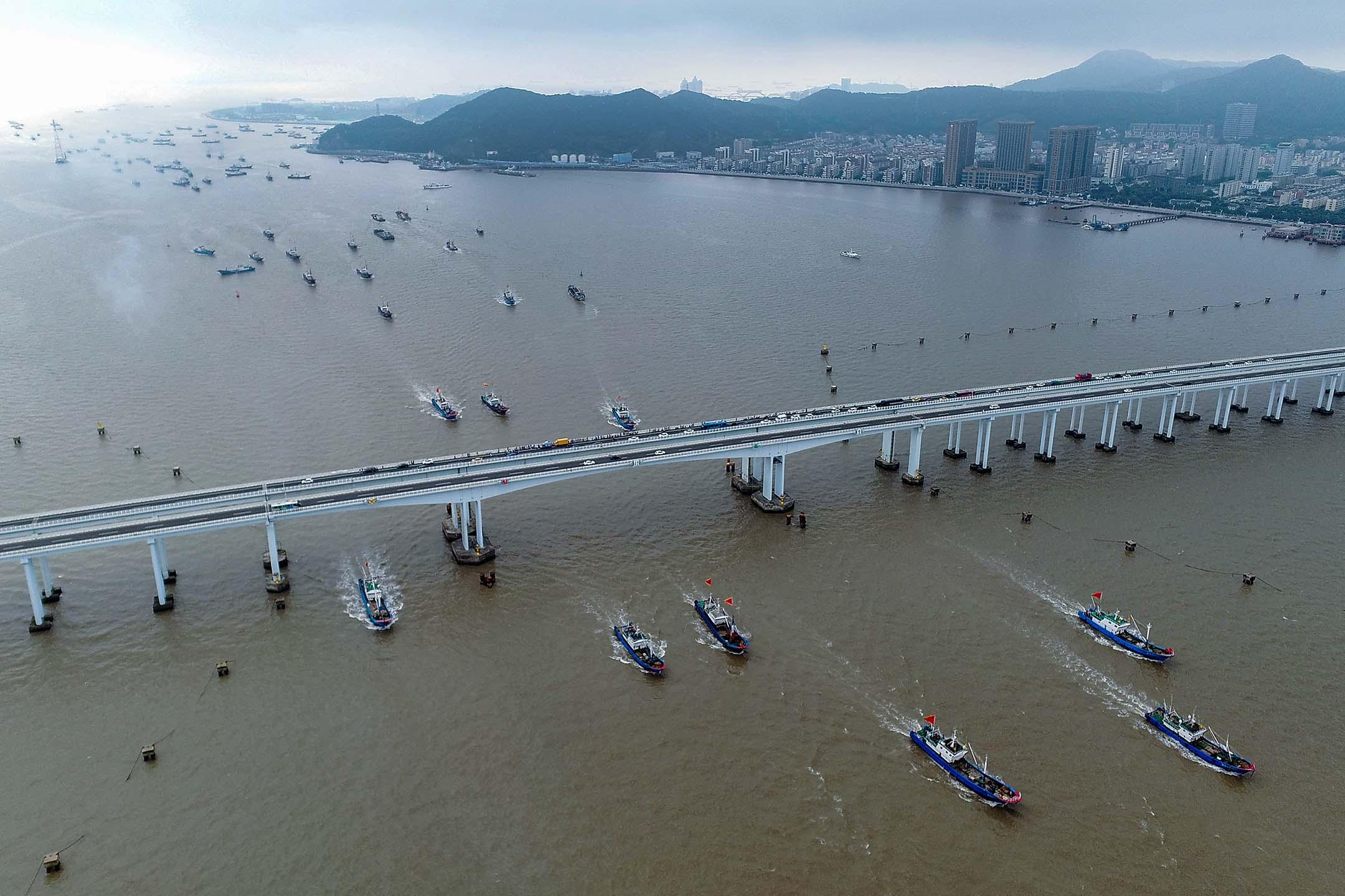 2020年9月16日中國舟山的捕魚船。 攝:Yao Feng/VCG via Getty Images