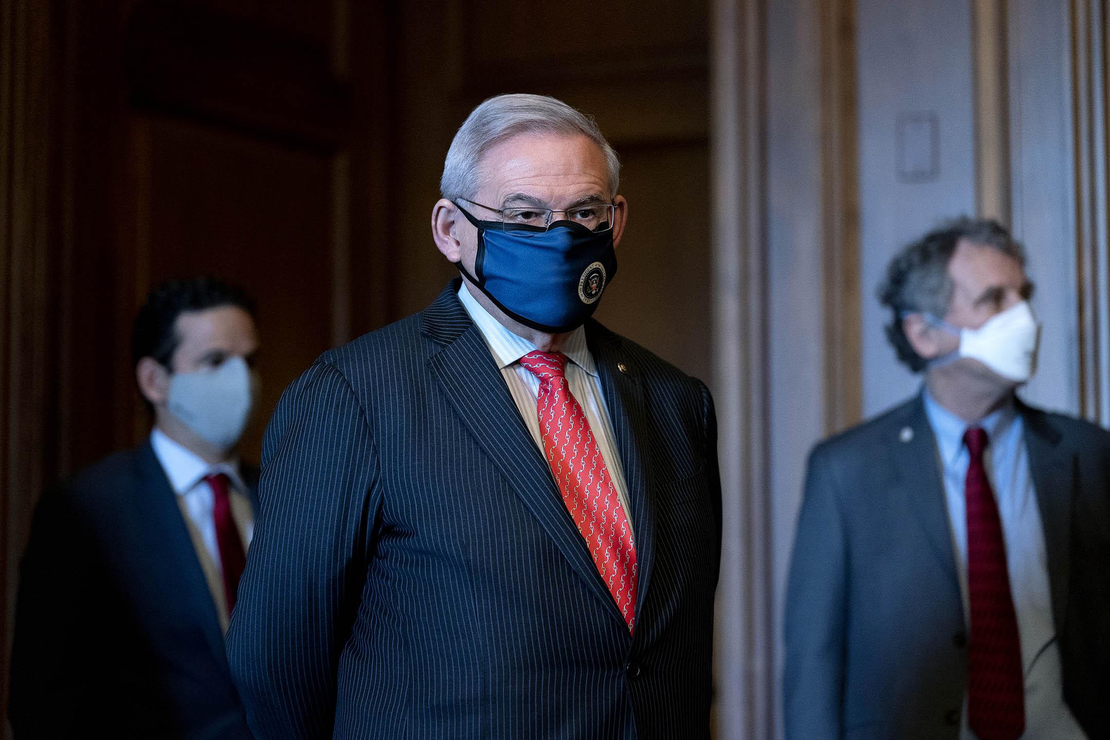 參議院外交事務委員會民主黨主席梅南德茲。