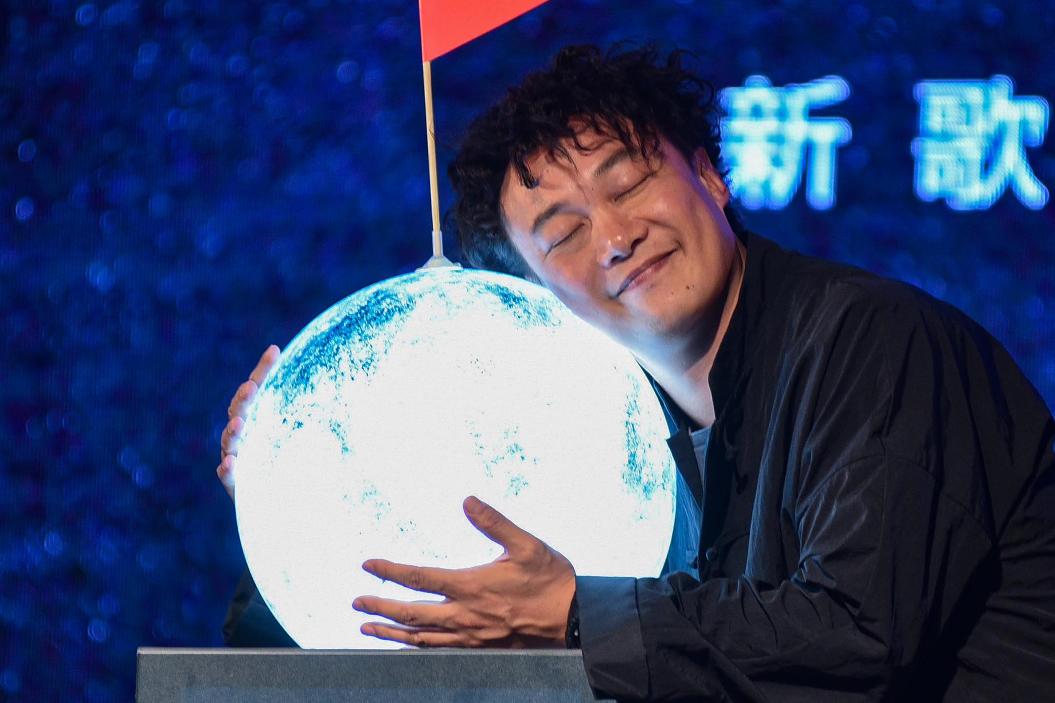 2017年8月23日台北,歌手陳奕迅推銷他的新專輯。 圖:Visual China Group via Getty Images