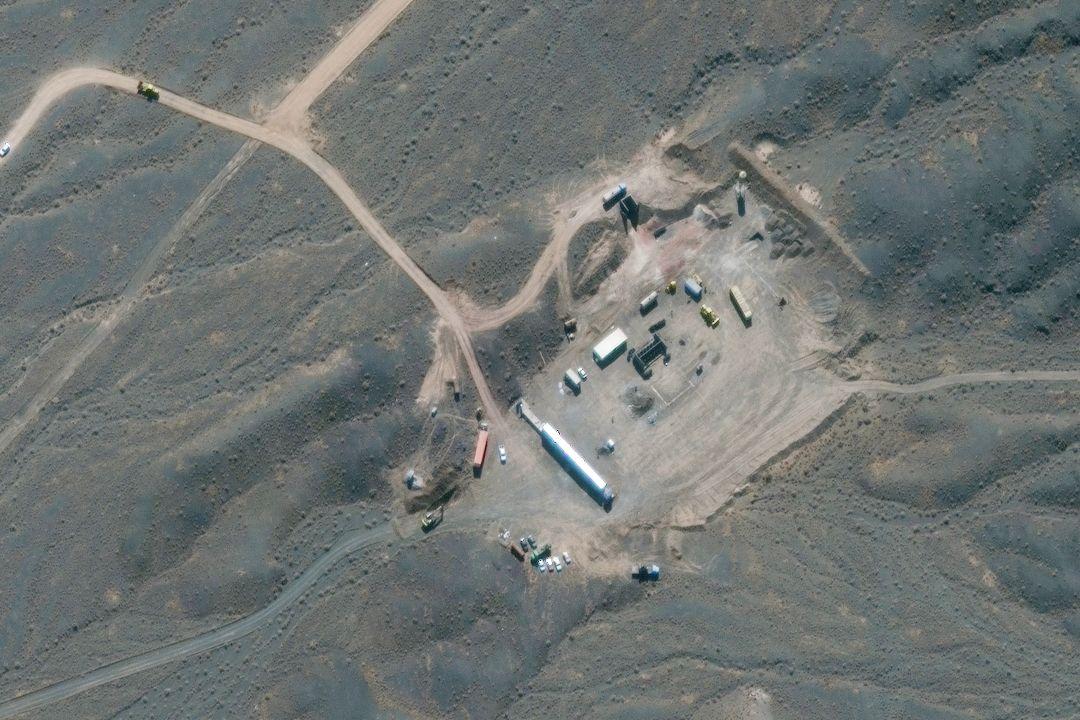2020年10月21日,伊朗納坦茲核設施。 攝:Reuters