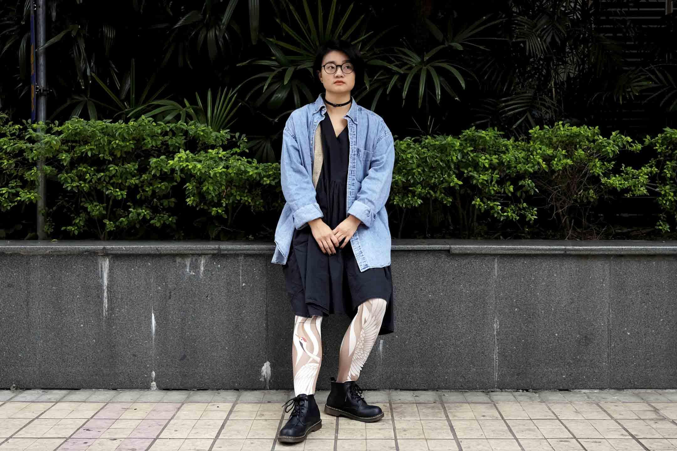 女權主義者肖美麗,拍攝於2018年。