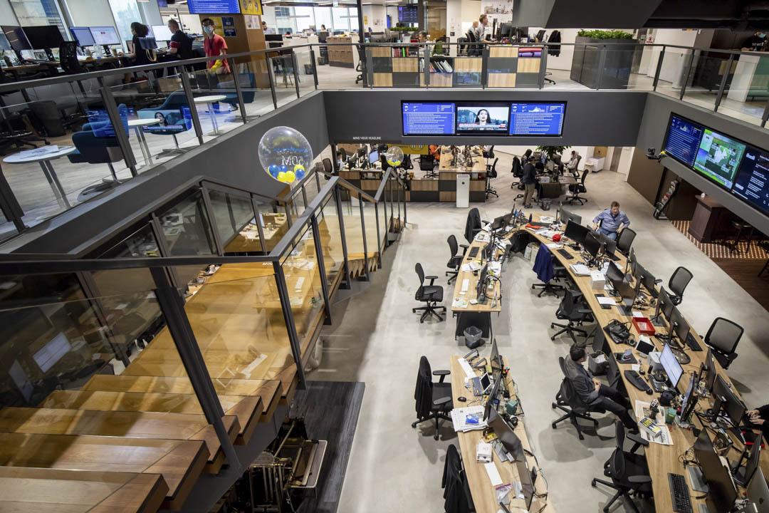 2020年6月5日,《南華早報》的新聞編輯室。