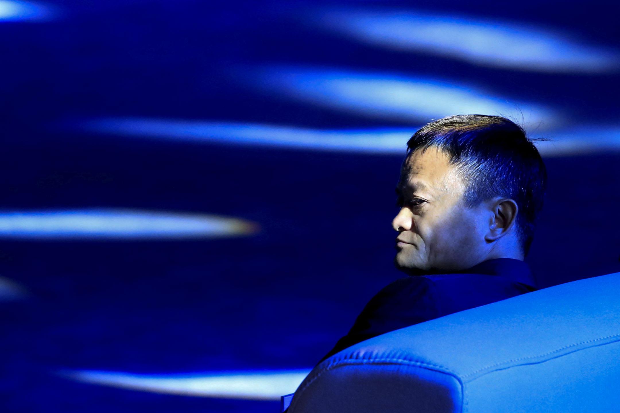 2018年9月17日,阿里巴巴集團創始人馬雲出席中國上海舉行的世界人工智能大會(WAIC)。 攝:Aly Song/Reuters/達志影像