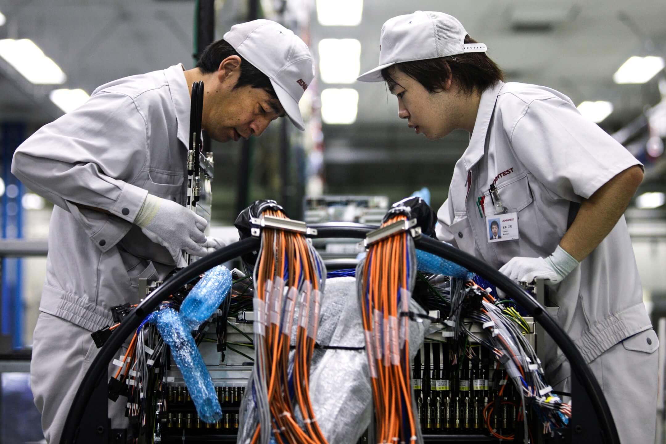 日本群馬県一家半導體工廠。
