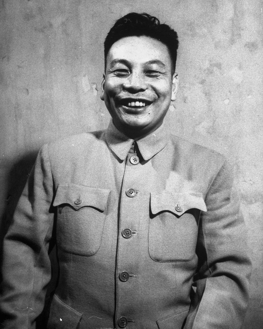已故台灣總統蔣經國,拍攝於1948年。