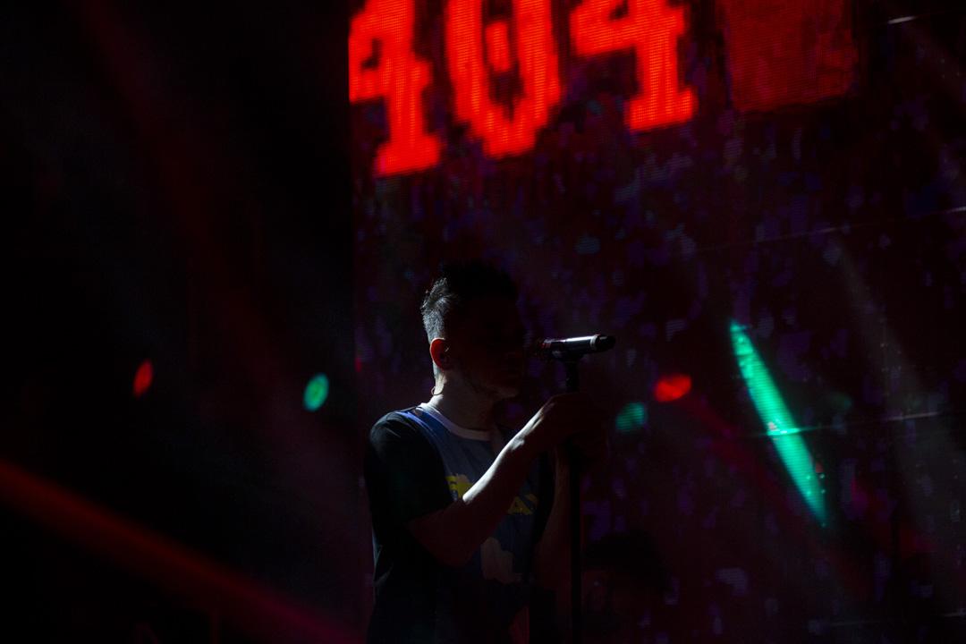 黃耀明在2020年達明演唱會。