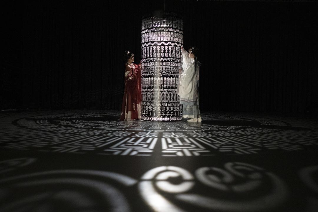 2021年2月26日,上海的一個漢族民華展覽。