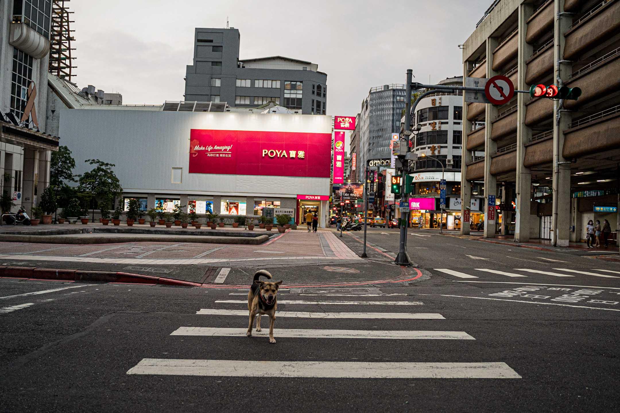 2021年5月16日台北,疫情期間的西門町。 攝:唐佐欣/端傳媒