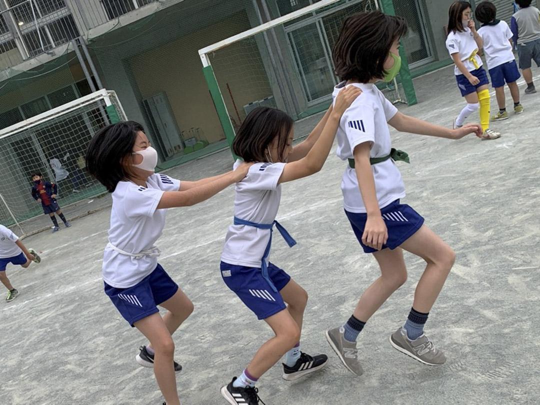 和光小學運動會的練習如荼地進行。