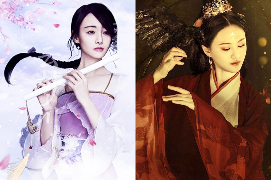 兩張鄭爽版本的《倩女幽魂》宜傳照片。 網上圖片