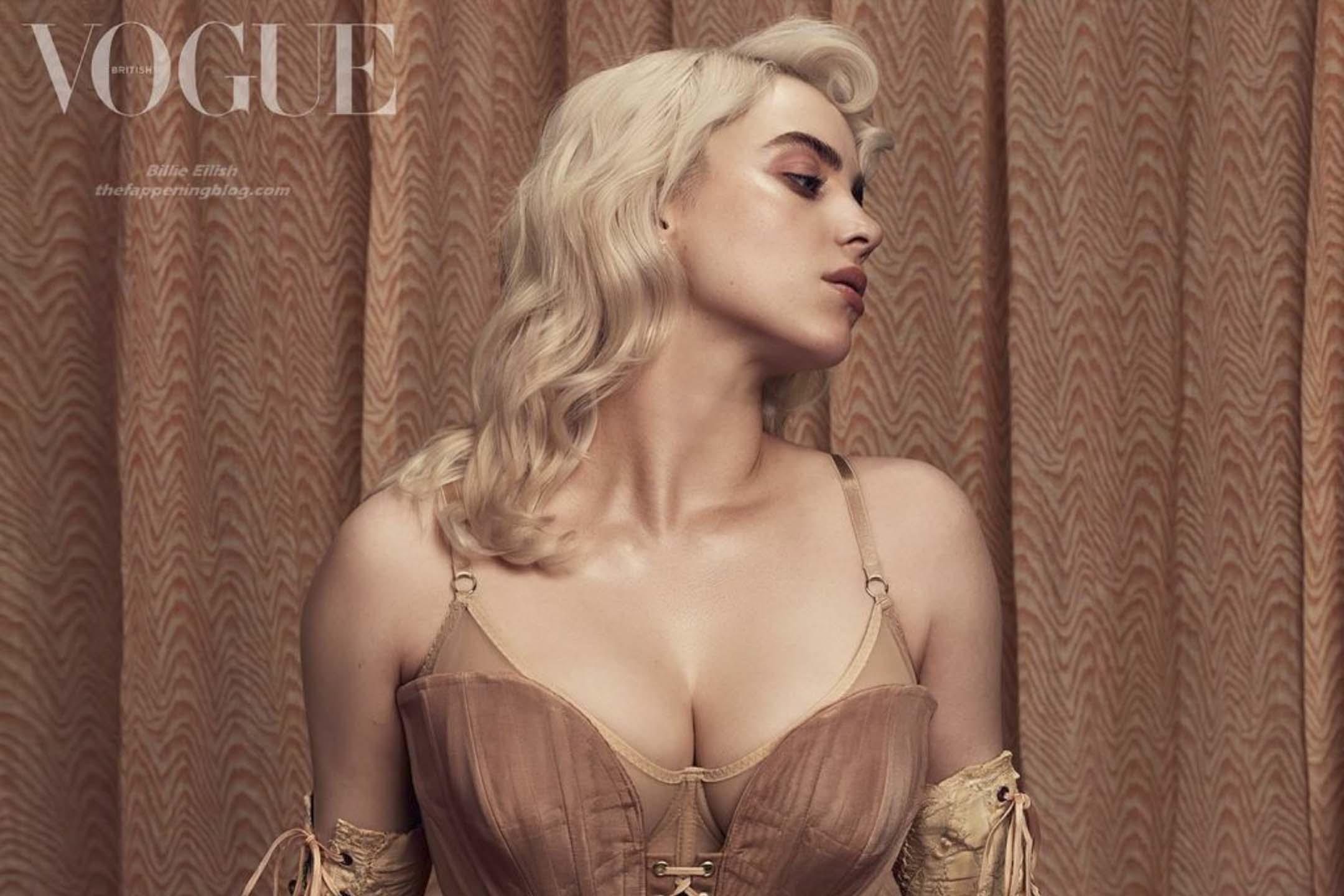 BillieEilish 以重新形象登上《Vogue》雜誌英國版六月號的封面。 圖片來源:BillieEilish IG